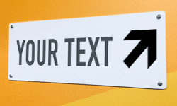 Design and personalize custom plastic signs online - Fast delivery